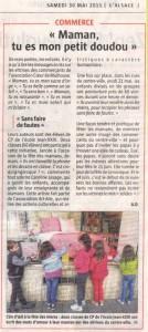 52. 30 05 2015 - L'ALSACE - Fete des meres